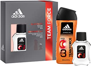 Adidas, Confezione Regalo Uomo Team Force, Eau de Toilette 50 ml e Gel Doccia Bagnoschiuma 3in1 250 ml