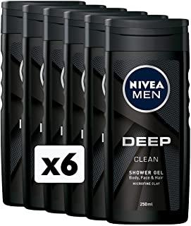 Nivea Men Deep Doccia Shampoo, 6 Confezioni da 250 ml