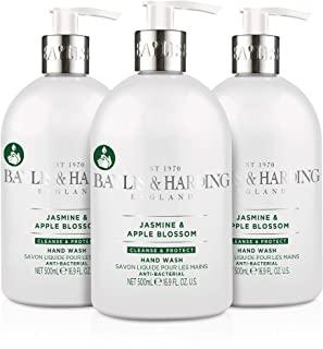 Baylis & Harding - Sapone liquido antibatterico per mani al Jasmine e Apple Blossom, 3 Confezioni da 500 ml