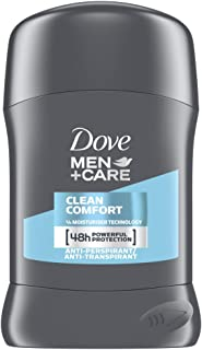 Dove, Deodorante stick per uomo Plus Care Clean Comfort, anti-traspirante, 50ml, Pack of 6