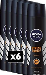 Nivea Stress Protect Men Deodorante Spray, 6 Confezioni da 150 ml