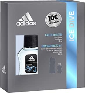 Adidas, Confezione Regalo Uomo Ice Dive, Eau de Toilette 50 ml e Gel Doccia Bagnoschiuma 3in1, 250 ml