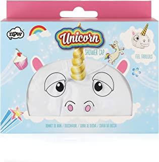 NPW - Cuffia da doccia, motivo: unicorno