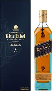 Johnnie Walker Blue Label Blended Scotch Whisky con Cofanetto