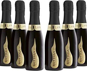 Bottega Poeti Prosecco Doc Spumante - Birillo - 6 Bottiglie da 200 ml