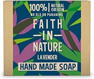 Faith in Nature Sapone Naturale per le Mani alla Lavanda, Nutriente, Vegano, senza Parabeni e SLS, non Testato su Animali, 100 g