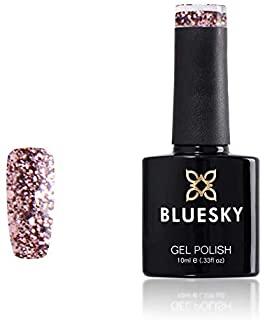 Bluesky Smalto Per Unghie Gel, Rose Gold, S06N, Luccichio, Rosa, Oro (Per Lampade Uv E Led) - 10 Ml