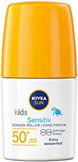 Nivea Sun - Crema solare roll on Kids Sensitiv in confezione da 2 x 50 ml), protezione SPF 50+, pratica lozione solare per la pe