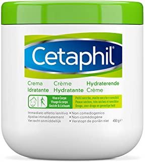 Cetaphil, Crema Idratante Viso e Corpo, Idratazione intensa per 24 ore, Ideale per Pelle Secca, Molto Secca, Sensibile e Dannegg