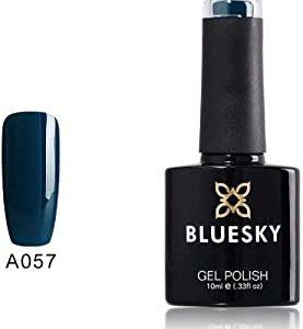 BLUESKY Smalto Per Unghie Gel, Winter Sky, A57, Blu, Buio (Per Lampade Uv E Led) - 10 Ml
