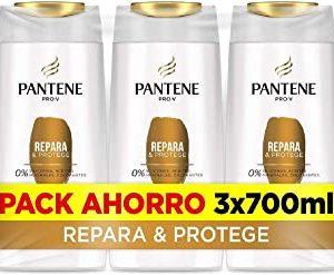 Pantene Champu, ripara e protegge, 3 x 700 ml, come vitamine per capelli, senza siliconi