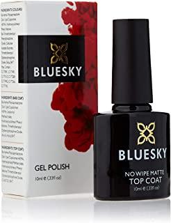 BlueSky - Smalto per unghie UV-gel, senza pulire, opaco, 10 ml