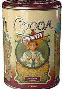 Van Houten Since 1828 Cocoa - Polvere di Cacao Ideale per Cioccolata Calda Conservato in Barattolo di Latta Decorato con Stampe