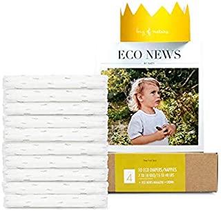 Eco by Naty, Taglia 4, 10 pannolini, 7-18kg, Pannolino eco premium a base vegetale con lo 0% di plastica sulla pelle