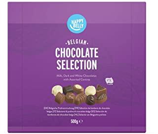 Marchio Amazon - Happy Belly - Selezione di praline di cioccolato belga 500g