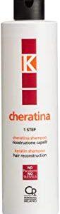 K-Cheratina - Shampoo Ricostruzione - Trattamento Professionale con Cheratina per Ristrutturazione Capelli Danneggiati - Prepara
