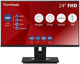"Viewsonic VG Series VG2455 monitor piatto per PC 60,5 cm (23.8"") Full HD LED Nero"