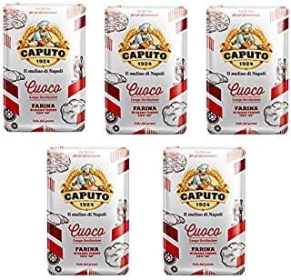 "Caputo Farina Caputo Rossa ""00"" Pizza Chef Kg 1 - Cartone 5 Pezzi, Totale 5 Kg - 5000 g"