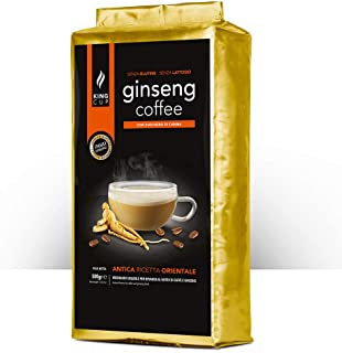 King Cup - 1 Busta da 500 Gr di Preparato in Polvere Solubile di Caffe al Ginseng con Zucchero di Canna, Ideale da Aggiungere in