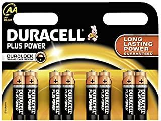 Duracell - Batterie alcaline 'Plus Power', Mignon AA, 8 pezzi