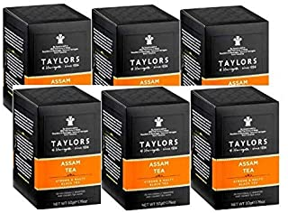 Taylors Assam Tea Strong & Malty Black Tea - 6 x 20 Individually Wrapped and Tagged Tea Bags (300 Gram)