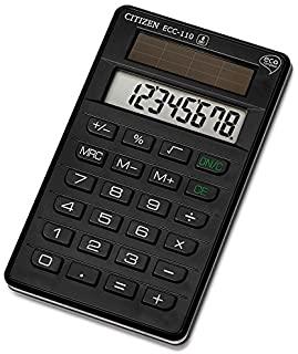Citizen ECC-110 Z300090 Calcolatrice Tascabile ECO, Nero
