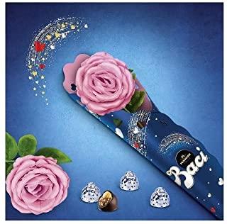 Rosa rosa con stelo + Baci perugina 75 gr senza glutine