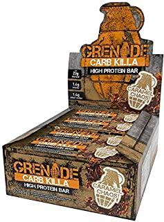 Grenade Carb Killa Barretta Proteica a Basso Contenuto di Carboidrati, Caramel Chaos, 12 x 60 g