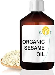 Olio di Sesamo Biologico deodorato Ayurveda 100% naturale Olio per massaggi Viso e Corpo (1000 ml)