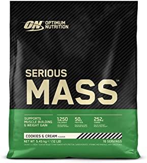 Optimum Nutrition Serious Mass Gainer, Proteine Whey in Polvere per Aumentare la Massa Muscolare con Creatina e Glutammina, Cook