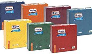 Regina Provence Tovaglioli | Confezione da 44 Pezzi | Tovaglioli 2 Veli 38x38 | Molteplici Sfumature di Colore | Carta 100% Cert
