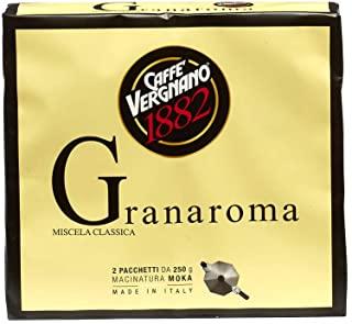 Caffe Vergnano 1882 Caffe Macinato Granaroma, 8 confezioni da 500 gr (totale 4 Kg)