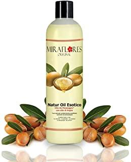 Olio da Massaggio con Olio di Argan - In Flacone da 500 ml - Emolliente, Nutriente e Antiossidante - Per Pelli Delicate e Sensib