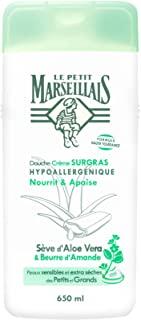 Le Petit Marseillais - Bagnoschiuma cremoso ipoallergenico arricchito di lipidi, con linfa di aloe vera e burro di mandorle, con
