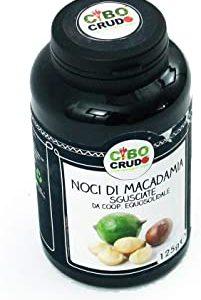 CiboCrudo Noci di Macadamia Giganti Sgusciate Crude, Intere e Giganti - 125gr - Non Tostate, Senza Guscio, Ricche di Sali Minera