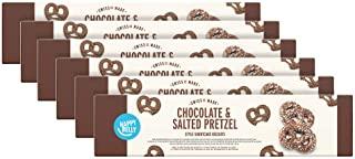 Marchio Amazon - Happy Belly Biscotti Shortcake con cioccolato e salati in stile Pretzel, 6x84g