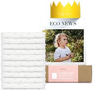 Eco by Naty, Taglia 1, 10 pannolini, 2-5kg, Pannolino eco premium a base vegetale con lo 0% di plastica sulla pelle