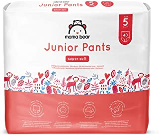 Marchio Amazon - Mama Bear Pannolini a mutandina Junior - Taglia 5 (13-20kg), 2 confezioni da 40 pezzi