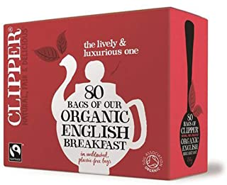 Clipper Organic Fairtrade English Breakfast Black Tea 80 bags