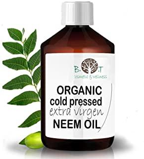 B.O.T cosmetic & wellness Olio Virgin di Neem Puro spremitura a Freddo 100% Puro BIO Non Raffinato (100 ml) - Anti zanzare, Repe