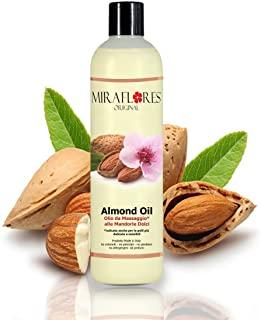 Olio da Massaggi Rilassante alle Mandorle - In Flacone da 500 ml - Ideale per ogni Tipo di Pelle - Indicato Soprattutto per Pell