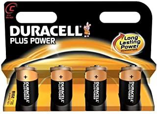 Duracell - Batterie alcaline, Baby C, LR14, 1,5 V Plus Power, confezione da 4