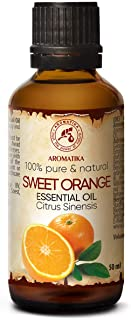 Olio di Arancio 50ml - 100% Olio Essenziale Puro - Brasile - Olio di Arancio per un Buon Riposo - Corpo - Relax - Massaggio - Sp