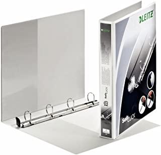 Leitz Raccoglitore personalizzabile a 4 anelli SoftClick, Per presentazioni, Formato A4 Maxi, Dorso 4.4 cm, Polipropilene, Bianc