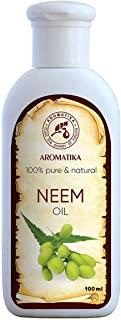 Neem Oil 100ml - Olio di Neem pressato a freddo - 100% puro e naturale - Olio di semi di Azadirachta - Trattamento intensivo per