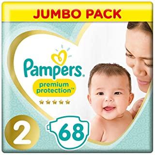 Pampers Pannolini confezione Jumbo, Taglia 2 (4-8 kg), 68 pezzi