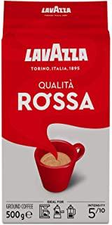 Lavazza Caffe Qualita Rossa, Macinato, Espresso per Cappuccino e Latte Macchiato, 500g