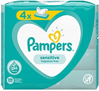 Pampers Sensibile Salviette Per Neonati Salviettine 4 Packaging eq 208-1230 Gr