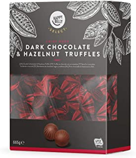 Marchio Amazon - Happy Belly Select Tartufi al cioccolato fondente e nocciola 1x665g