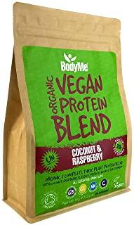 BodyMe Miscela Di Proteine Vegane Bio In Polvere | Crudo Cocco Lampone | 1kg | Senza Zucchero | Carbo Basso | Senza Glutine | 20